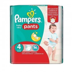 Pack 30 Couches Pampers Baby Dry Pants taille 4 sur Choupinet
