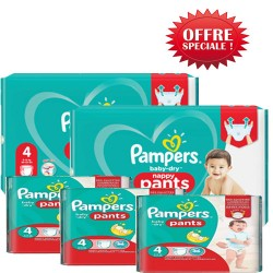 Pack 90 Couches Pampers Baby Dry Pants taille 4 sur Choupinet