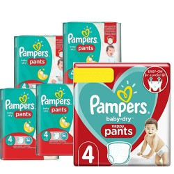 Mega pack 180 Couches Pampers Baby Dry Pants taille 4 sur Choupinet