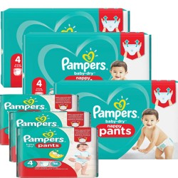 Giga pack 210 Couches Pampers Baby Dry Pants taille 4 sur Choupinet