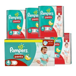Giga pack 270 Couches Pampers Baby Dry Pants taille 4 sur Choupinet