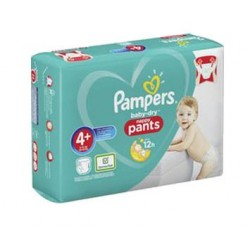Pack 50 Couches Pampers Baby Dry Pants taille 4+ sur Choupinet