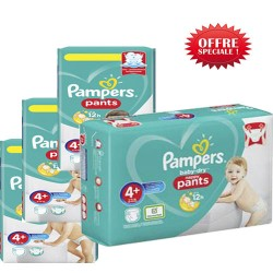 Pack jumeaux 500 Couches Pampers Baby Dry Pants taille 4+ sur Choupinet