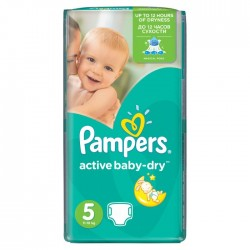 Pack 22 Couches Pampers Active Baby Dry taille 5 sur Choupinet