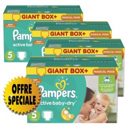 Maxi giga pack 330 Couches Pampers Active Baby Dry taille 5 sur Choupinet