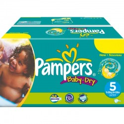 Pack 92 Couches Pampers Baby Dry taille 5 sur Choupinet