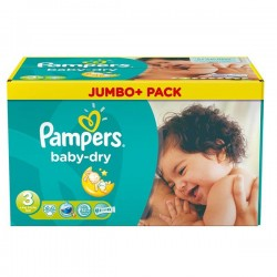 86 Couches Pampers Baby Dry taille 3 sur Choupinet