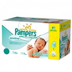 Lingettes Bébé Pampers Sensitive - 12 Packs de 56 sur Choupinet