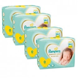 120 Couches Pampers New Baby Premium Care taille 0 sur Choupinet