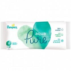 Pack 48 Lingettes Bébés Pampers Aqua Pure sur Choupinet