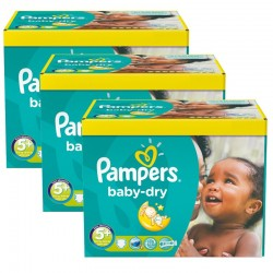 336 Couches Pampers Baby Dry taille 5+ sur Choupinet