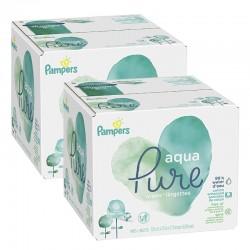 768 Lingettes Bébés Pampers Aqua Pure sur Choupinet