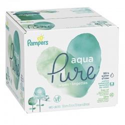 960 Lingettes Bébés Pampers Aqua Pure sur Choupinet