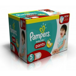 288 Couches Pampers Baby Dry Pants taille 5 sur Choupinet