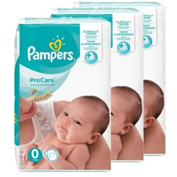 Mega pack 114 Couches Pampers ProCare Premium protection taille 0 sur Choupinet