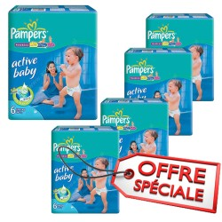 Giga pack 240 Couches Pampers Active Baby Dry taille 6 sur Choupinet