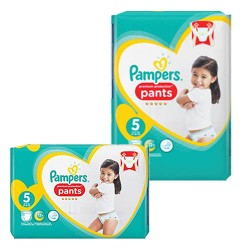 680 Couches Pampers Premium Protection Pants taille 5 sur Choupinet