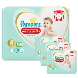 Pack jumeaux 684 Couches Pampers Premium Protection Pants taille 4 sur Choupinet