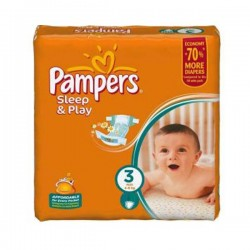 Pack 78 Couches Pampers Sleep & Play taille 3 sur Choupinet