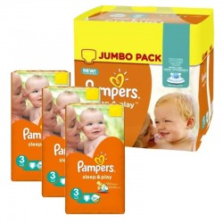 Mega pack 156 Couches Pampers Sleep & Play taille 3 sur Choupinet