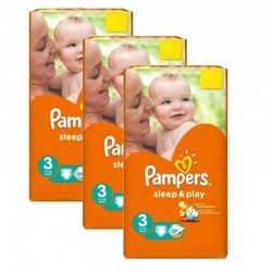 Giga pack 234 Couches Pampers Sleep & Play taille 3 sur Choupinet