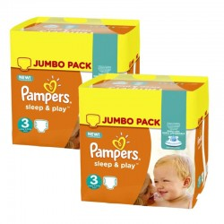 Pampers - Maxi giga pack 390 Couches Sleep & Play taille 3 sur Choupinet