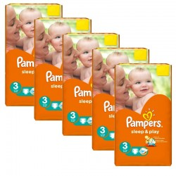 Pack jumeaux 624 Couches Pampers Sleep & Play taille 3 sur Choupinet