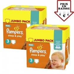 Pack jumeaux 780 Couches Pampers Sleep & Play taille 3 sur Choupinet